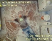 construction workers creat dust.Post renovation nyc cleaning services.