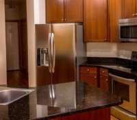 nyc deep cleaning and sanitizing.stainless steel appliances and granite countertops polished and cleaned